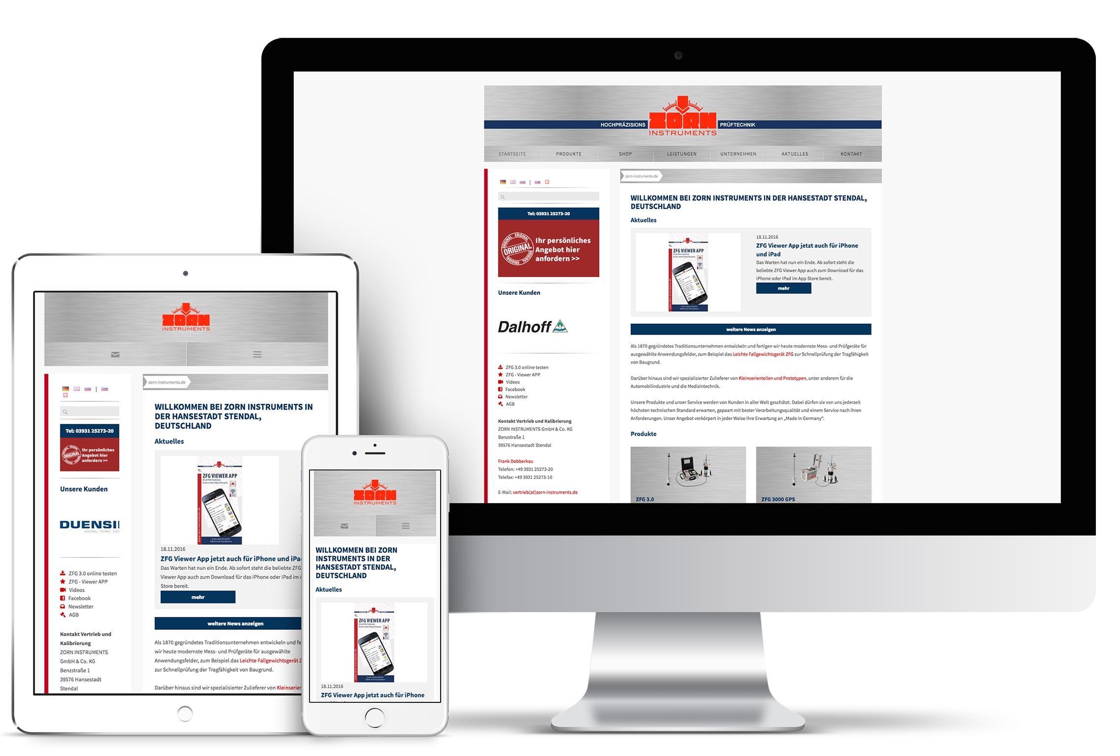 Webseite für Tradiotionsunternehmen